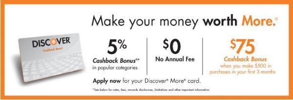 Discover? More? Card - $50 Cashback Bonus?