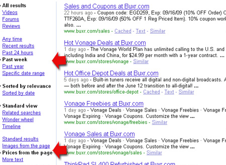 Google site: operator