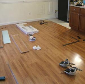 pergo floor dining room
