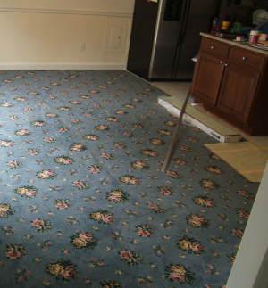old ugly carpet